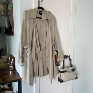 *3* Pieces- Bebe trench coat, Coach bag and scarf